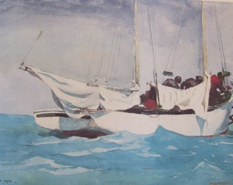 Winslow Homer, Key West, Hauling Anchor, Color Plate Of 1903 Watercolor, Unframed Print