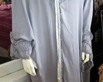 Early 1920s Late Teens Antique Fabulous Flapper Cocoon Silk Opera Coat Boudoir Wrap Elgrace Label