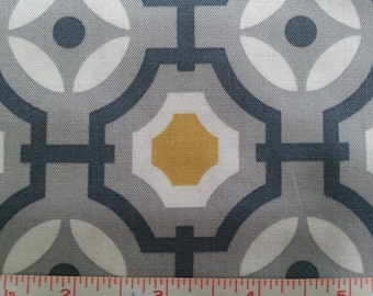Gray Mustard Mime Cotton Fabric by the yard or half yard fabric, or fat quarter,  quilt fabric, quilting fabric, apparel fabric