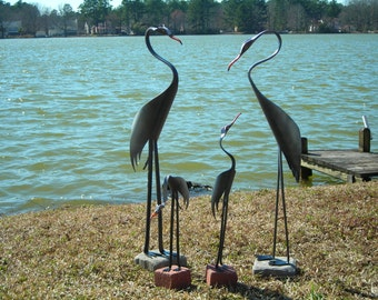 Blue Heron Family of 4 - PVC