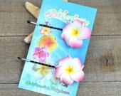 Pink Flower  Pins, 1 inch Flower,   Floral Hair Pins, Bobby Pins