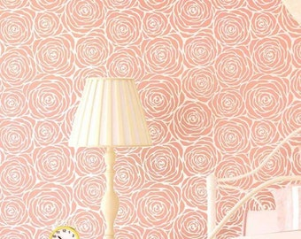 Roses Allover Stencil - Small - DIY home décor - Easy DIY wall décor - Reusable stencils for walls - By Cutting Edge Stencils