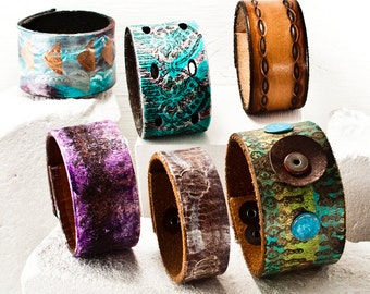 Bracelet Jewelry Lot - Leather Cuff Leather Wristbands - Clearance Low Price Discount Bulk