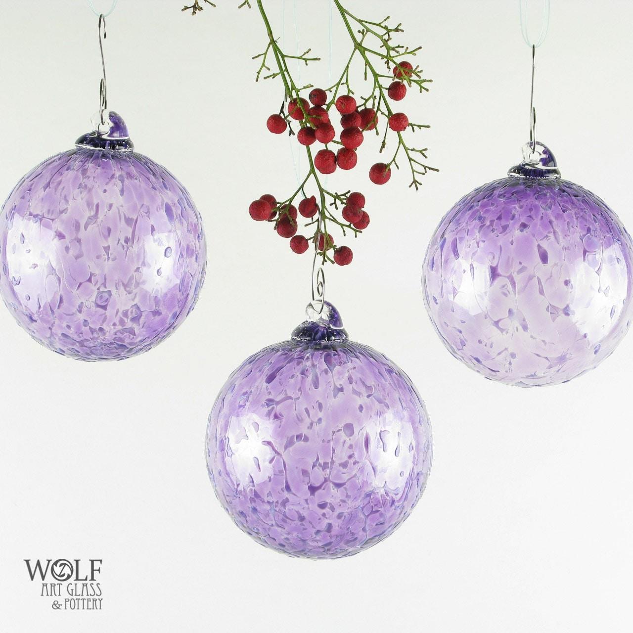Blown glass christmas tree holiday ornament by wolfartglass