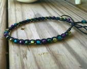 Anklet Black Purple Turquoise Multi Size Options