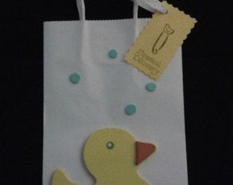 baby shower, favor bags, baby duck, duck favors, duck favor bags