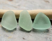 Seafoam Seaglass. Undrilled Jewelry & Craft Supply. 3 Pieces. Lot N9