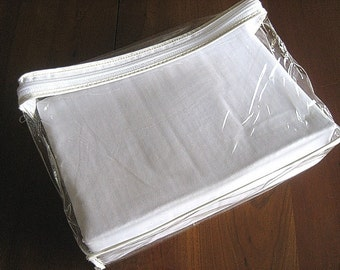 Sheet NEW in Package white Cotton Smooth Percale Flat & Pillow Case TWIN NIP