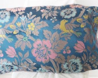 bird pillow case, medieval pillow, fantasy pillow, medieval design, bird cushion cover, vintage bird pillow, floral pillow case,