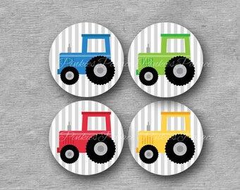 Tractor Stickers Envelope Seals Stickers Birthday Stickers Birthday Favor Stickers  - Set of 24
