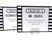Film Strip Movie Quotes Wedding Table Number Cards