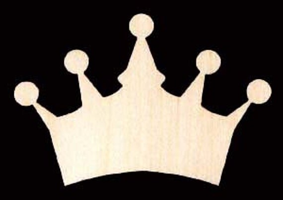 Crown Shapes Unfinished Craft Wood Cutout 760