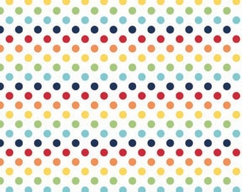Rainbow Small Dots Fabric by Riley Blake Designs - by the Yard - 1 Yard - C350-01