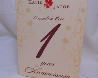 Wedding Anniversary Table Numbers - Harvest Fall Scroll Table Number Cards - Signature Cards - Customizable 5x7 - 10