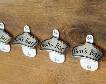 Beer Groomsmen Gifts, Personalized Wall-Mount Bottle Opener, Groomsman Gift, Custom Gifts for Groomsmen, Wedding Party Gifts - 1 Beer Opener