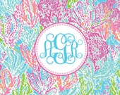 Cha-Cha Monogrammed Note Cards- set of 10