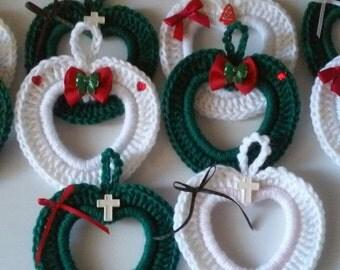 Crochet Photo frame, Heart, Christmas Frame, Teacher Gift, Ornament