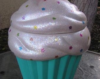 Moonlight Rainbow Star Bright Cupcake Jar
