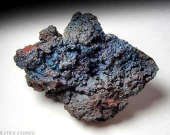Metallic Blue Goethite Cluster, Raw Natural Formation // Root & Third Eye Chakra // Crystal Healing // Mineral Specimen