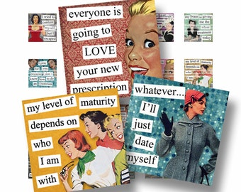 1x1 Digital Collage Sheet Retro What's Up, Buttercup? Quotes Scrabble Tile Images For Jewelry Square Words Sayings
