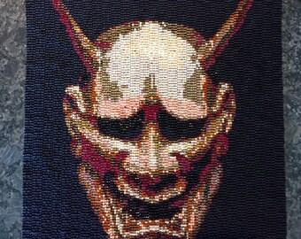 Noh Hannya Oni Demon Mask Tapestry