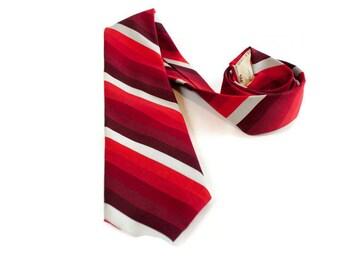 Vintage Red Jacques Estier Necktie