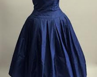 Sweet Navy Retro Dress