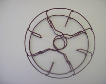 SALE Rusty Vintage Wire Reel Home Decor Wall Hanging Industrial Supply Piece Was 12.00