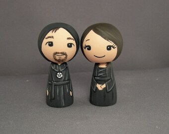 Witches Wedding Cake Toppers