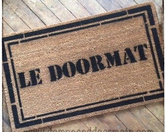 GENERIC French LE DOORMAT- 1980's Repo man style- for guys