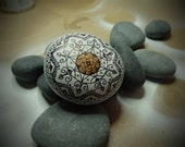 Wedding Flavor ,Mandala Hand Painted Stone, Hand Drawing Stone