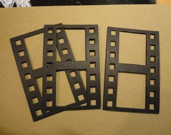 Film Strip Chip Board Die cuts - 3 x 4 3/4 inches