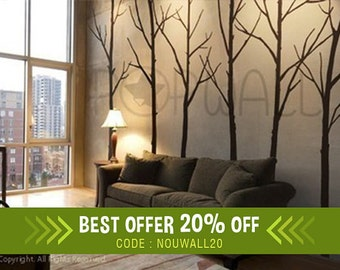 Winter Tree Wall decal - living room wall decals Wall Sticker, Home decor - Wall Decor - 036