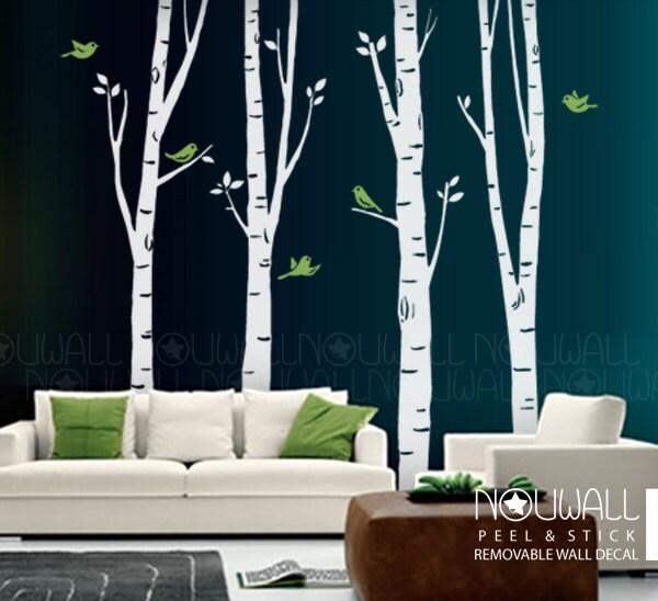 incredible birch tree wall - photo #47