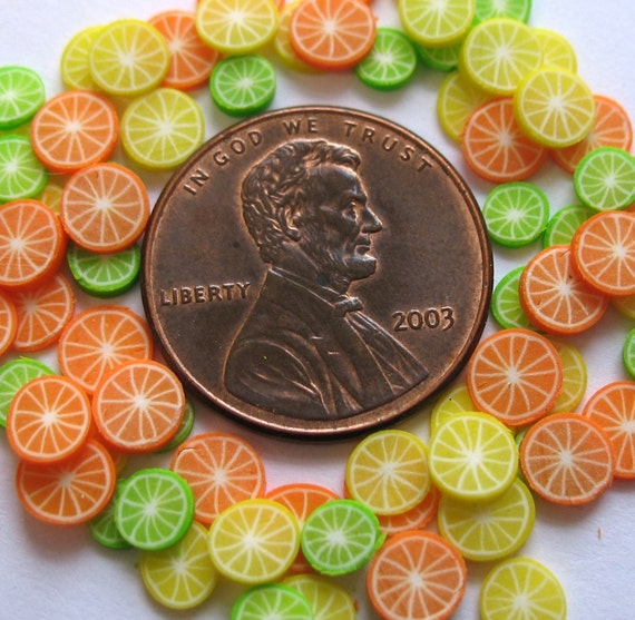 citrus slices miniature