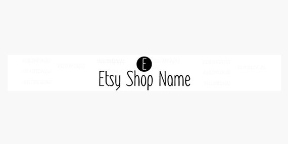 Etsy  Banner - Etsy Shop Banner - Simple Etsy Banners - Clean Etsy Banners - Modern Minimalist 5 - Logo Banner