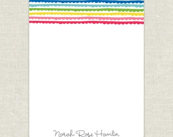 Personalized Rainbow Flat Notecards