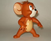 "Tom and Jerry 1993 Cartoon Rubber Mouse Figure 5"" tall Hanna Barbera"