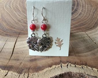 Sterling silver Day of the dead earrings