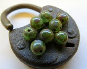 NEW Beach Marbles . Czech Picasso Polished Druks (25 beads) 6 mm
