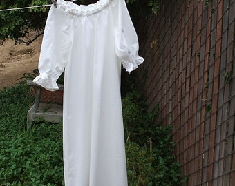 Renaissance Chemise Nightgown womens XS - XLg Prairie Under Dress No Lace Custom Made
