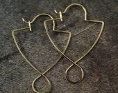 1 Pair Handmade Shield Ear Wires - Sterling Silver, 14kt Gold Filled, Niobium, Titanium, Copper, Brass, Bronze, Nickel Free Stainless Steel