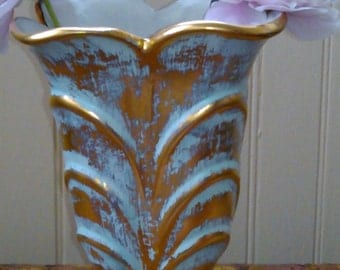 Stangl Vase Antique Gold 1950s