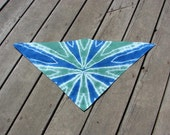 Tie Dye Pet Scarf - Sea Glass & Blue Shocker