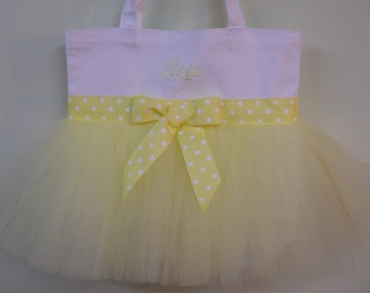 Dance bags, Ballet bag, tutu dance bag, Embroidered tutu tote bag, tutu tote bag, tutu bag, dance bag,Personalized Tutu Ballet Bag TB915 BP