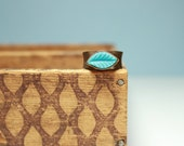 Turquoise and Copper Adjustable Ring - Fall Jewelry