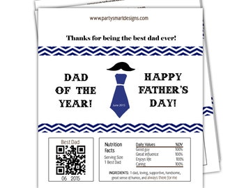 Digital Print It Yourself PIY Fathers Day Candy Wrappers/Hershey Candy Wrappers/Large Candy Bar Wrappers/Chocolate Bar Wrappers