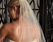 Pearl Veil, Wedding Veil Elbow Length - White, Diamond White, Light Ivory, or Ivory