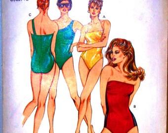 kwik sew pattern 1430 ~ misses one~piece swimsuit ~ (1985) ~ UNCUT