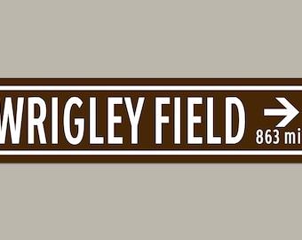 Custom Wrigley Field Stadium Baseball Sign